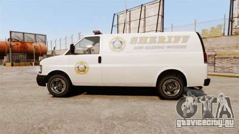 Vapid Speedo Los Santos County Sheriff [ELS] для GTA 4 вид слева