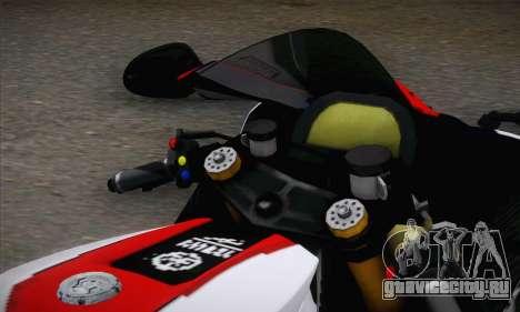 Yamaha R1 2011 для GTA San Andreas вид сзади слева