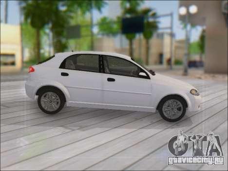 Chevrolet Lacetti для GTA San Andreas вид изнутри