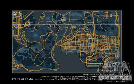 Карта в гоночном стиле Trace Map для GTA San Andreas второй скриншот