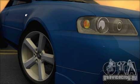 Audi A3 1999 для GTA San Andreas вид сзади слева