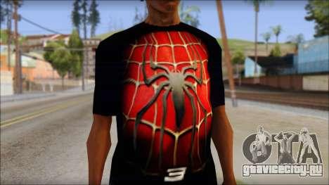 Spiderman 3 T-Shirt для GTA San Andreas третий скриншот