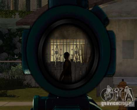 Sniper skope mod для GTA San Andreas второй скриншот