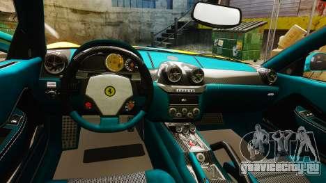 Ferrari 599 GTO PJ2 для GTA 4 вид изнутри