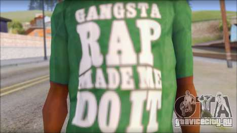 Ice Cube T-Shirt для GTA San Andreas третий скриншот