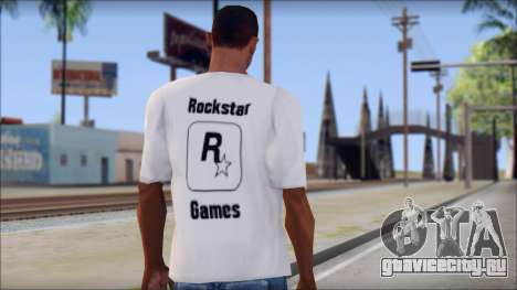 Rockstar Games White T-Shirt для GTA San Andreas второй скриншот