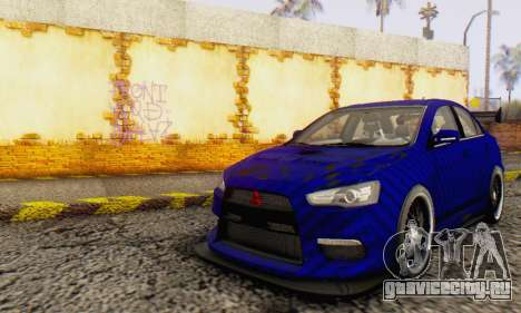 Mitsubishi Lancer EVO X Carbon Coloured для GTA San Andreas
