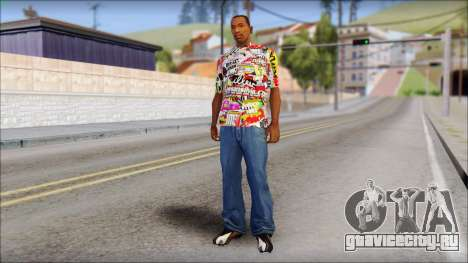 Sticker Bomb T-Shirt для GTA San Andreas третий скриншот