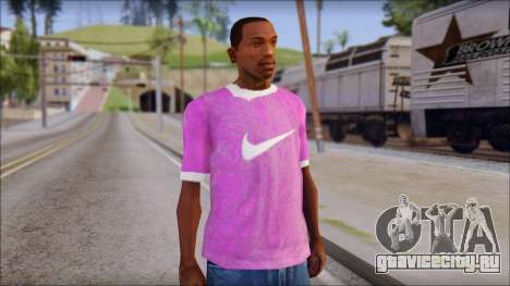 NIKE Pink T-Shirt для GTA San Andreas