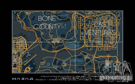 Карта в гоночном стиле Trace Map для GTA San Andreas