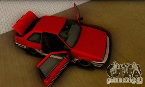 Karin Futo для GTA San Andreas вид изнутри