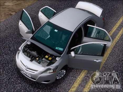 Toyota Yaris 2008 Sedan для GTA San Andreas вид сверху
