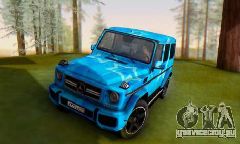 Mercedes-Benz G65 Blue Star для GTA San Andreas вид сбоку