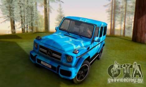 Mercedes-Benz G65 Blue Star для GTA San Andreas вид сбоку