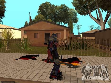 Optimus Sword для GTA San Andreas пятый скриншот