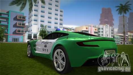 Aston Martin One-77 police для GTA Vice City вид слева