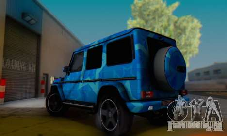 Mercedes-Benz G65 Blue Star для GTA San Andreas вид изнутри