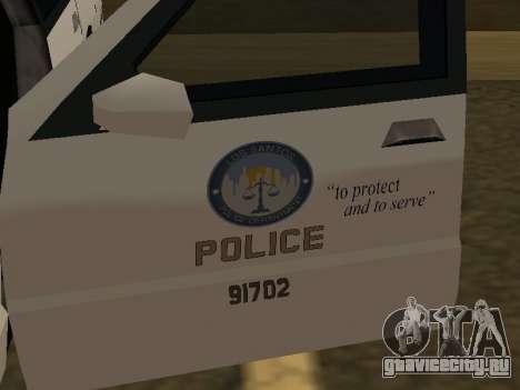 Police Original Cruiser v.4 для GTA San Andreas вид сбоку