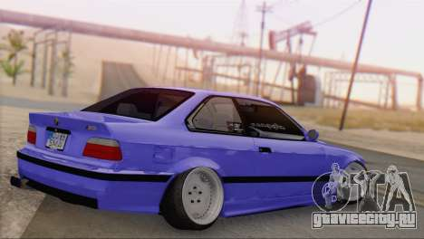 BMW M3 E36 Coupe Slammed для GTA San Andreas вид слева