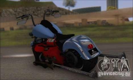 Boss Hoss v8 8200cc для GTA San Andreas вид сзади слева