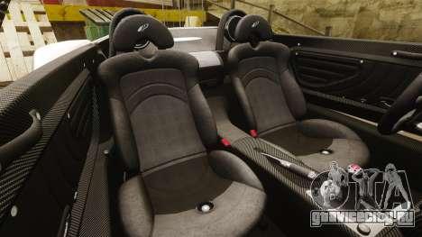 Pagani Zonda C12S Roadster 2001 v1.1 PJ2 для GTA 4 вид сбоку