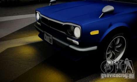 Nissan Skyline GC10 2000GT для GTA San Andreas вид сверху