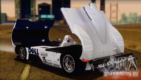 BMW 14 LMR 1999 для GTA San Andreas вид сзади
