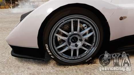 Pagani Zonda C12S Roadster 2001 v1.1 PJ2 для GTA 4 вид сзади