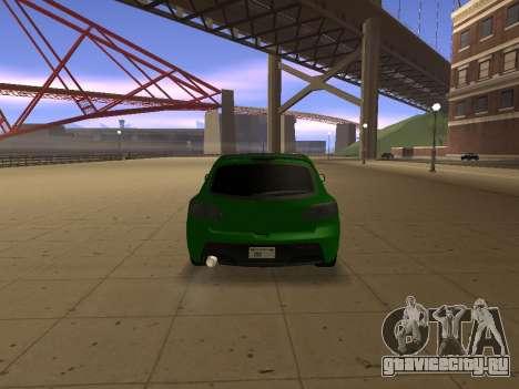 Mazda 3 для GTA San Andreas вид сзади слева