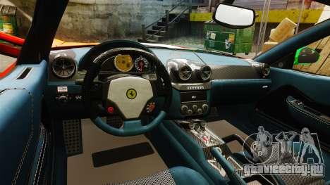 Ferrari 599 GTO PJ4 для GTA 4 вид изнутри
