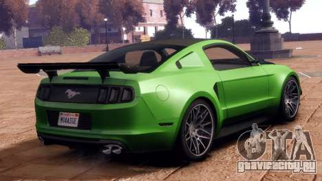 Ford Mustang GT 2014 Custom Kit для GTA 4 вид слева