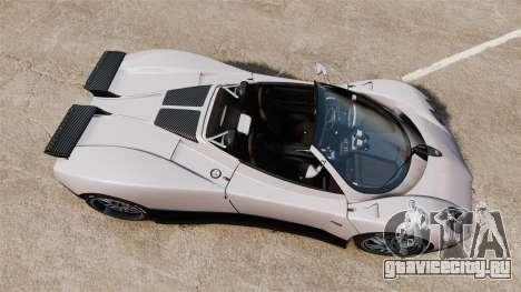 Pagani Zonda C12S Roadster 2001 v1.1 PJ2 для GTA 4 вид справа
