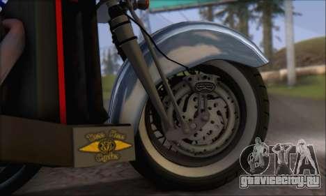 Boss Hoss v8 8200cc для GTA San Andreas вид изнутри