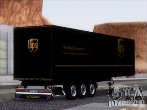 Прицеп United Parcel Service для GTA San Andreas вид справа