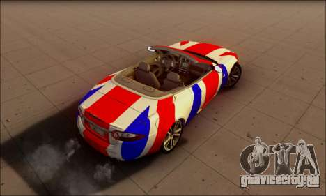 Jaguar XK 2007 для GTA San Andreas вид сзади