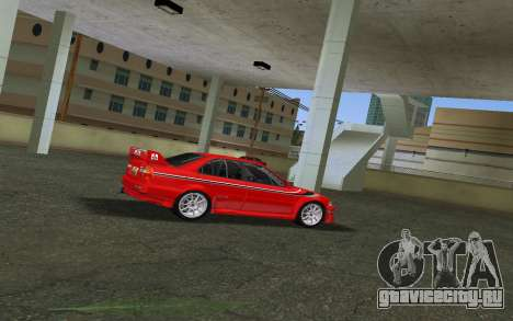 Mitsubishi Lancer Evolution 6 Tommy Makinen Edit для GTA Vice City вид сзади слева