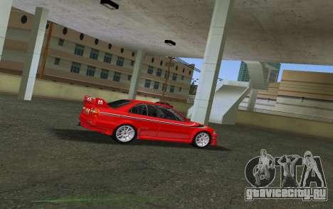Mitsubishi Lancer Evolution 6 Tommy Makinen Edit для GTA Vice City вид сзади слева