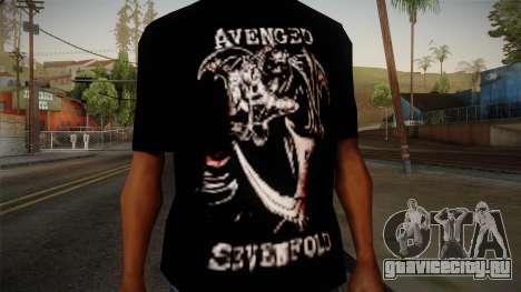 Avenged Sevenfold Reaper Reach T-Shirt для GTA San Andreas третий скриншот