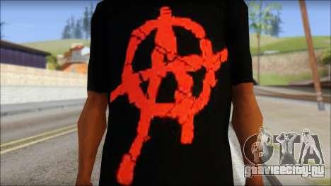 Anarchy T-Shirt Mod v2 для GTA San Andreas третий скриншот