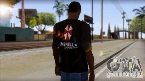 Umbrella Corporation Black T-Shirt для GTA San Andreas второй скриншот