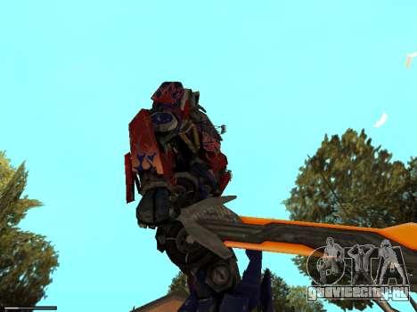 Optimus Sword для GTA San Andreas четвёртый скриншот