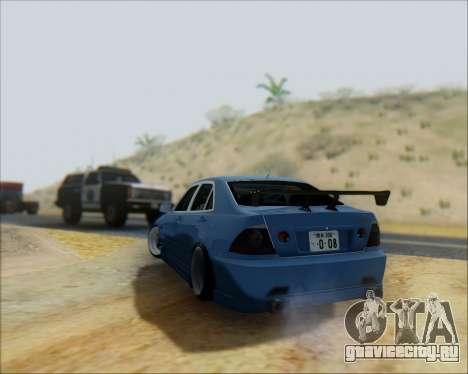Toyota Allteza C-West для GTA San Andreas вид сзади