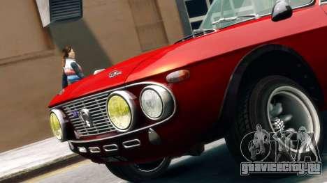 Lancia Fulvia HF для GTA 4 вид сзади слева
