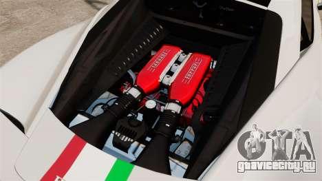 Ferrari 458 Italia Speciale Novitec Rosso для GTA 4 вид изнутри