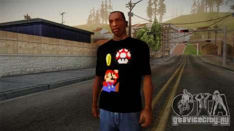 Mario Bros T-Shirt для GTA San Andreas