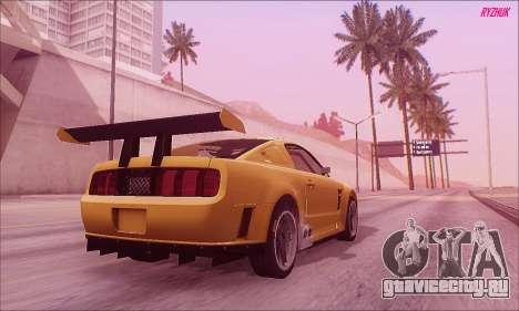 Ford Mustang GTR для GTA San Andreas вид слева