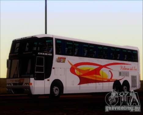 Busscar Jum Buss 400 Volvo B10R Pullman Del Sur для GTA San Andreas вид сзади