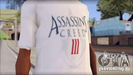 Assassins Creed 3 Fan T-Shirt для GTA San Andreas третий скриншот