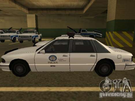 Police Original Cruiser v.4 для GTA San Andreas вид изнутри