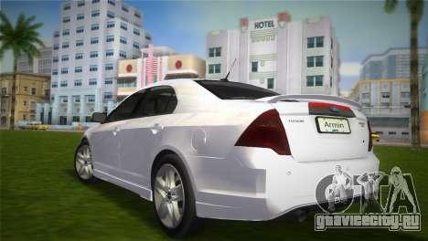 Ford Fusion 2009 для GTA Vice City вид слева